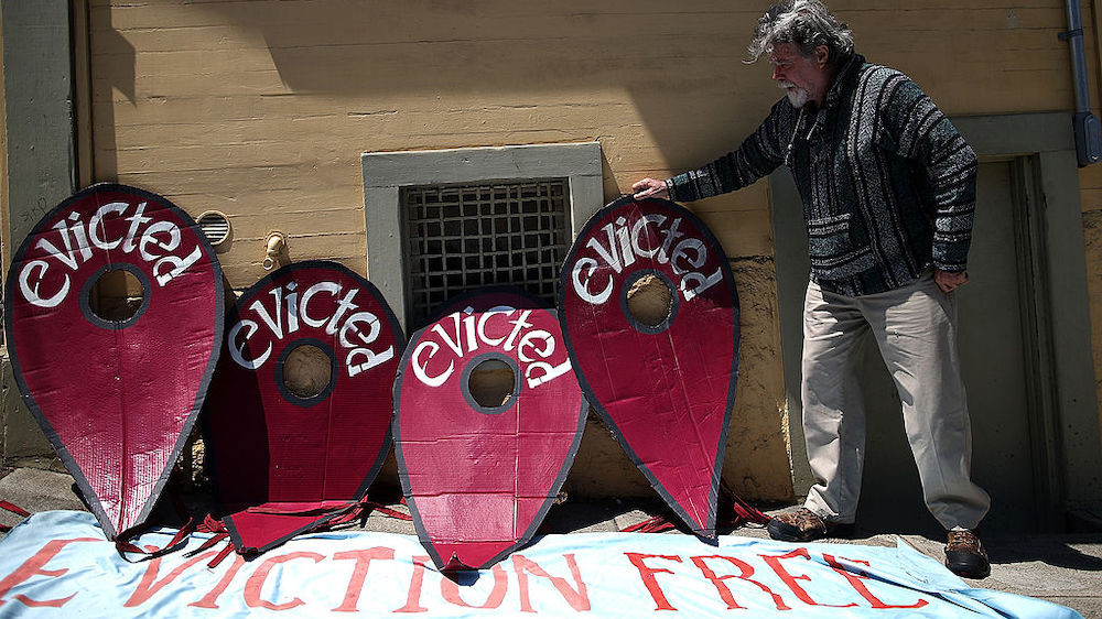 Eviction protest in San Francisco